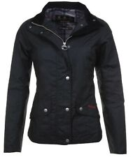 BARBOUR LADIES BLACK FERNDOWN EQUESTRIAN WAX JACKET COAT UK 8