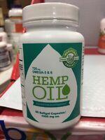 HEMP SEED OIL Manitoba Harvest Capsules 60 Soft GelsCapsules 1000mg ea. Exp 5/21