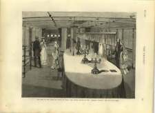 1875 Royal Visit India, Dining Saloon Of The Serapis Showing Reception Room