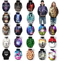 Couples Men Women 3D Graphic Print Hoodie Sweater Sweatshirt Jacket Pullover Top