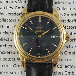 OMEGA CO-AXIAL DeVille Power-Reserve 18ct Gold Chronometer Herrenuhr v.ca.2003