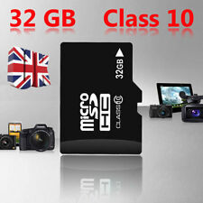32GB Class 10 Micro SD Card + Adapter TF SDHC Flash Storage Memory UK