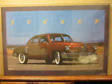 vintage 1988 Tucker car poster garage man cave  5381