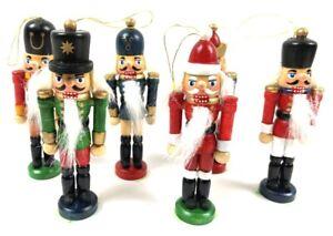 Nussknacker 6 er Set Holz König Dekofiguren 10 cm Weihnachtsdeko Weihnachten neu