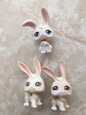 Littlest Pet Shop RARE Bunny Bunnies Rabbits #3 265 211 White Tan Long Ear Lot