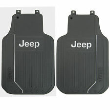 New 2pc Gray Jeep Elite Front All Weather Heavy Duty Rubber Floor Mats Set