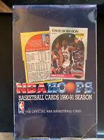 1990-91 Official NBA Hoops Basketball Cards Box Sealed 36 Packs Jordan Bird