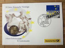 2 € Gedenkmünze Numisbrief 2007 - Serie 50 Jahre Römische Verträge - G -
