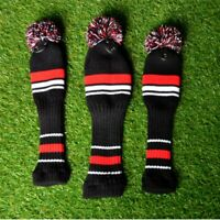 US Knit Fairway Wood Head Covers Golf Club Headcover Replacements 3pcs/set