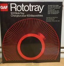 NEW GAF Rototray 100 Photo Slide Tray 2x2 Slides For GAF & Sawyer Projectors