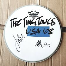 """THE TING TINGS, AUTOGRAPHED DRUM HEAD, 10"""" DIAMETER"""