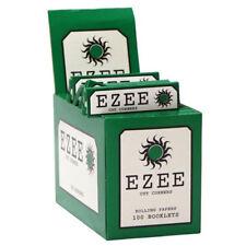 100 EZEE Green Regular Standard Size Rolling Papers Full Box