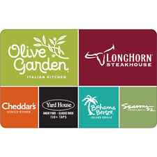 $50 Olive Garden Physical Gift Card - FREE Standard 1st Class Mail Delivery