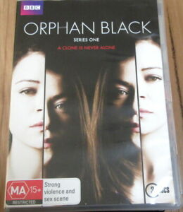 "Orphan Black seasons 1 DVD 3 Disc set BBC ""A clone is never alone"" MA"
