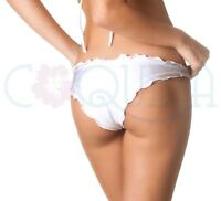 Coqueta Ruched waived Brazilian Bikini Hipster ripple ALLURE scrunch WHITE