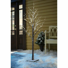 3ft LED Christmas Snow Tree Decoration Indoor Outdoor Lights Winter Xmas Twig