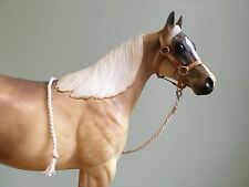 Traditional Scale Gold Tan Model Horse Halter For Breyer