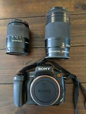 Sony Alpha a350 14.2MP Digital SLR Camera with 2 lenses and strap