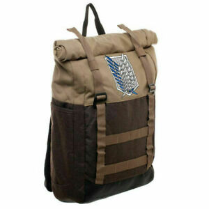 Authentic Attack on Titan Scout Regiment Roll Top Backpack rolltop Bag