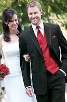 New Black Custom Wedding Groomsman Men Groom Tuxedo Suit (jacket pants vest tie)