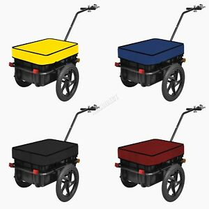 BIRCHTREE Cargo Trailer Bicycle Luggage Storage 70L Cart Removable Cover FH-CT01