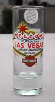 New Harley Davidson Motorcycle Shot Glass Welcome to Fabulous Las Vegas 2 oz