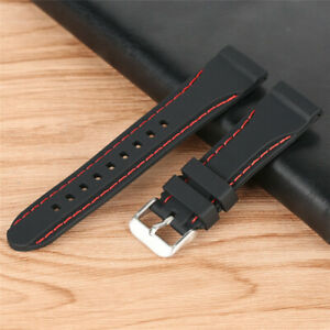 20/22/24mm Waterproof Diving Watch Band Strap Rubber Bracelet Replacement
