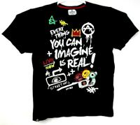 Akademiks Artfully Crafted Collection Street Wear Graphic T Shirt Size 2XL Black
