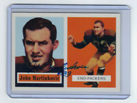 1957 PACKERS John Martinkovic signed card Topps Archives #142 Autographed AUTO