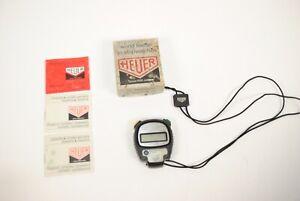 Vintage Heuer MicroSplit 1030 Digital Stop Watch For Parts/Repair