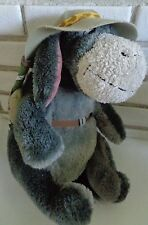 "Disney Parks Camper Camping stuffed plush toy EEYORE w safari hat 13"" WinniePooh"