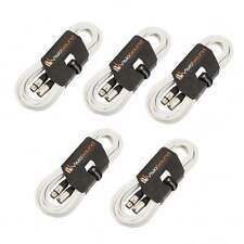 5 x 10m Macho a Cable Hembra Mic XLR / Micrófono Balanceado Cable / Blanco