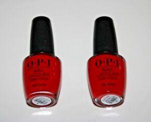 "O.P.I Nail Lacquer Nailpolish NL L60 ""Dutch Tulips""  Lot Of 2 New"