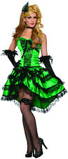 Adult Emerald Saloon Can Can Girl Wild Western Costume Standard size