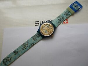 """AUTOMATIC SWATCH  """" MAPPAMONDO """" '93  SAN101   EXCELLENT   VINTAGE  WOW  RARE"""