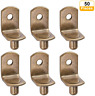 6mm L-Shaped Support Shelf Brackets Pegs with Hole for Cabinet Closet Furniture