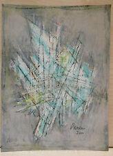 Peinture Gouache Originale ABSTRACTION Abstrait CHEVALIER 2000 JC4
