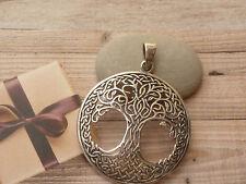 Lederband mit Anhänger 925 Silber Lebensbaum Baum des Lebens Kelten Knoten