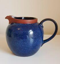 Henry Watson Pottery suffolk England Blue Milk cream Jug