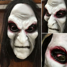 Black Long Hair Halloween Mask Full Head Scary Mask Party Goods Cosplay Ghost