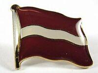 Lettland Flaggen Pin Anstecker,1,5cm,Latvia,Neu mit Druckverschluss