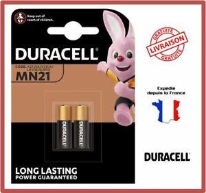2 Piles MN21 A23 K23A V23GA LRV08 DURACELL alcaline 12V DLC 2025 Blister