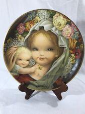 Juan Ferrandiz Collector Plate Floral Mother & Child - Schmid #724 Of 10,000