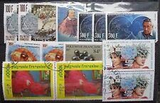 Polynésie française petit nombre de utilisé valeur plus élevée des Timbres. neuf sans charnière & utilisé.