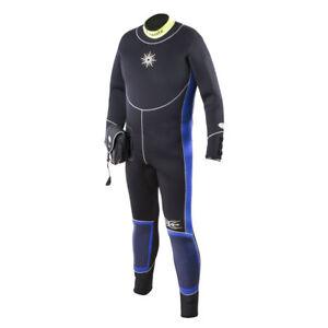 Neopren Tauchen 6mm Halbtrocken Overall Rücken-RV Herren NEU aquata Anzug