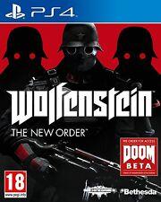 Wolfenstein The New Order PS4 ESPAÑOL NUEVO  PRECINTADO  CASTELLANO PS4