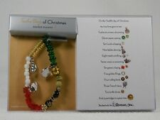 Beaded Bracelet By Roman Inc. '12 Days of Christmas' #97150 Beads W/Meaning NIB