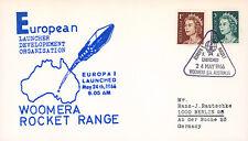 "ELDO-1 FDC AUSTRALIE WOOMERA ""Lancement Fusée EUROPA I - Vol F.4."" 1966"