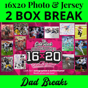 PHILADELPHIA EAGLES signed Gold Rush 16x20 photo +autographed jersey 2 BOX BREAK