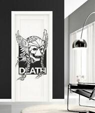 I169 Wall Decal Sticker skull wings tattoo monster face helmet room skull